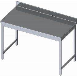 TABLE ADOSSEE INOX