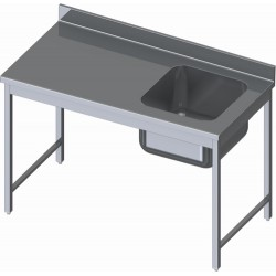TABLE DU CHEF INOX LARGEUR 700mm