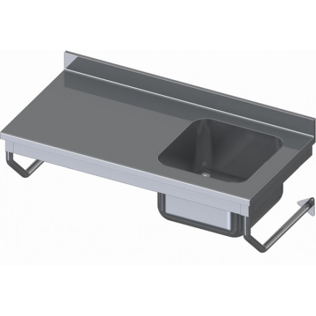 TABLE DU CHEF SUSPENDUE INOX LARGEUR 700mm